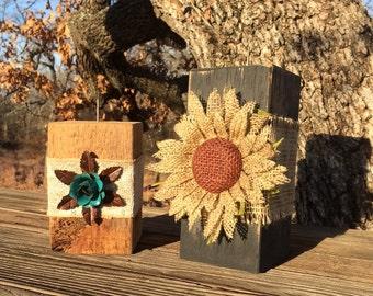 Embellished Wood Candleholder