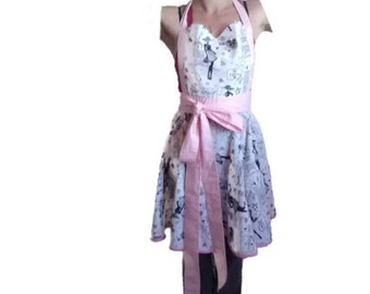 "Apron-""Me Paris-"" Vintage and handmade"