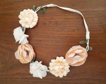 Vintage Flower Headband Crown