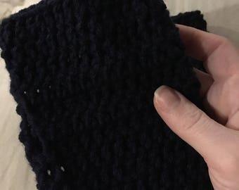 Mens or womens fingerless gloves mittens handmade crochet gift for him or her