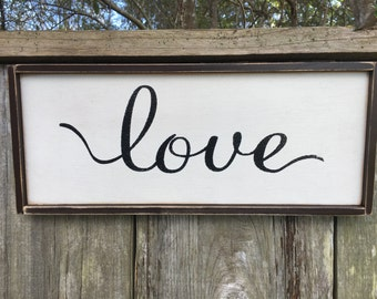 Love sign,Fixer Upper Inspired Signs,12x6, Rustic Wood Signs, Farmhouse Signs, Wall Décor