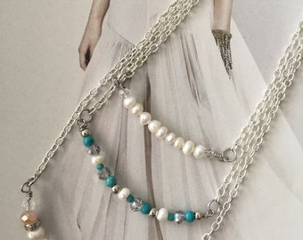 Pearls and crystal necklaces (set)