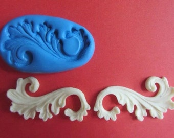 French scroll silicone mould