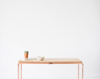 Copper and Birch Display Bench / Table