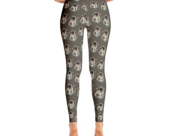 Pug Puppy And Butterflies Leggings