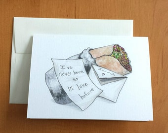 Burrito Love Note Greeting Card