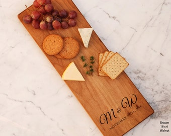 Monogram Cheese Board Personalized Couple Initials Engraved Items Bridesmaid Gift Idea Charcuterie Best Friend Birthday Best Man Groom To Be