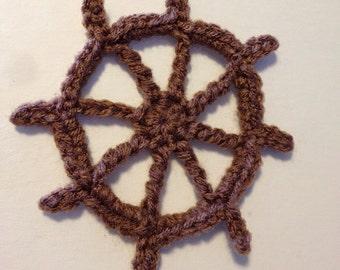 Crochet Pattern - Ship Wheel Applique