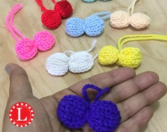 Loom Knitting PATTERNS Mini Bows / Miniature Bows -  Includes Video Tutorial by Loomahat