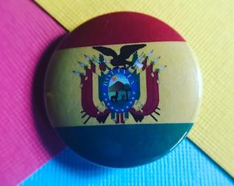 Bolivia Flag Pinback Button, Bolivia Flag Magnet, Bolivia Flag Keychain, Bolivia Flag Backpack Pin, Bolivia Flag Badge