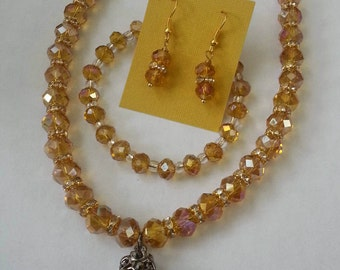 Beaded Crystal Jewelry set