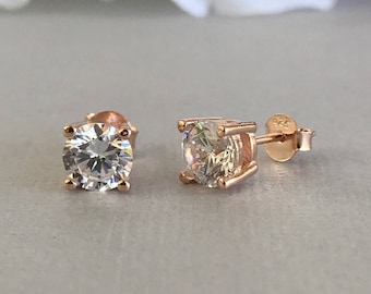 Birth Stone Jewels 9ct Yellow Gold 9mm Square C Z Set Solid Cast Men's Single Stud Ear Ring 4 Claw Setting BofRMbO0ZV