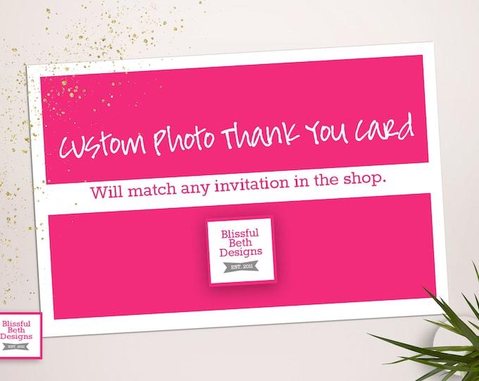 Matching Custom Photo Thank You Card