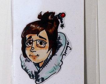 Mei Overwatch Hand-Made Sticker