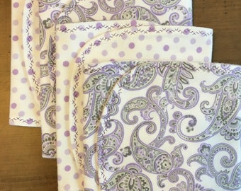 Cotton - Baby Girl Burp Cloths - Set of 4 - Baby Shower Gift - Baby Gift