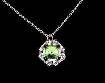 Peridot Swarovski Crystal Pendant