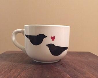 Two love birds mug