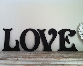 Victorian Decorative Wall Letters - Set of 4 - LOVE - 8 inches