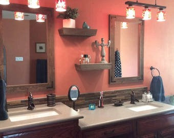 Mirror Set, Wood Mirrors, Rustic Mirrors, Wall Mirrors, Vanity Mirrors, Bathroom Mirrors, Reclaimed Wood Mirrors, Rustic Home Decor, Mirrors