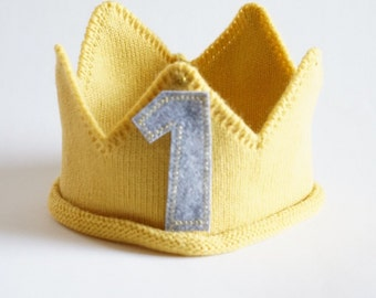 Custom Knit Birthday Crown, first birthday