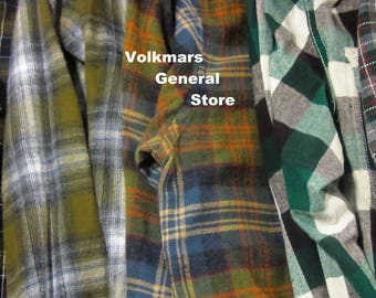 Green Flannels Vintage Women's Flannel Shirts Sizes S M L XL XXL & 3XL Pick Quantity and Size I'll Forward Photo For You To Choose From