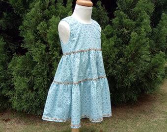 Spring and Summer Dress for Girls, Twirl Toddler Dress, Beach Dress, Play Dress