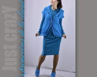 Knitted vest Les primevères de la clairière