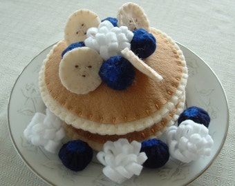 Blueberry Pancakes - Fun Felt Food - Made To Order