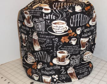 instant pot cover, 6 qt, cappuccino, steaming coffee, latte, cotton, FREE US SHIPPING