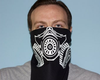 Gas Mask Bandana.  Respirator Bandana.  Graffiti Mask by Adage ScreenPrinting