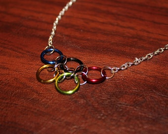 Olympic Rings Inspired Necklace