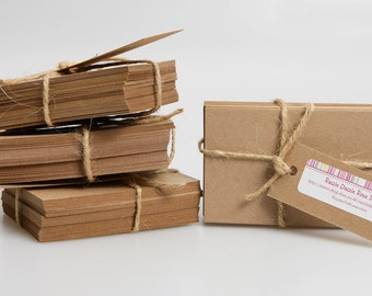 Recycled Brown Kraft Postcards You Choose A6 275gm or 300gm (pack of 50)