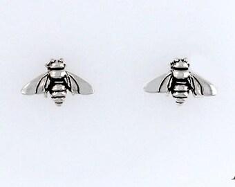 Sterling Silver Honey Bee, Choice - Charm, Post, Dangle Earrings