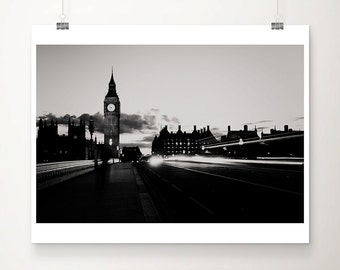london photograph big ben photograph houses of parliament photograph london print travel photography night photograph london decor