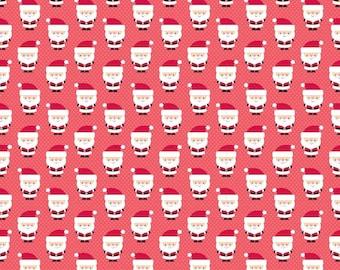 Riley Blake Santa Express Santa Claus by Doodlebug Designs (C4723 RED)