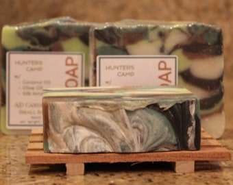 Hunter's Camp Handcrafted Soap - Natural Soap, Essential Oil Soap, Handmade Soap, Camouflage Soap