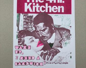 The 4hr Kitchen Risograph Print