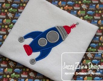 Space Rocket Appliqué embroidery Design - space man appliqué design - space appliqué design - astronaut appliqué design