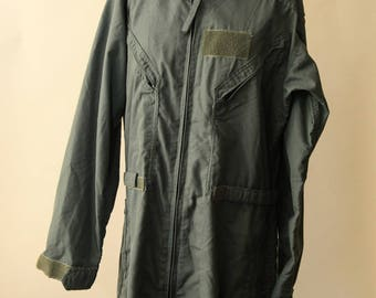 Vintage Flyer's Summer Fire-Resistant Jumpsuit   Army Green Flyer's Coveralls   Men's 42 Regular Coveralls   Military Flyer's Uniform