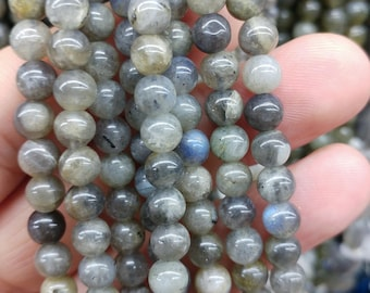 Round labradorite beads, 6 mm gemstone beads, semiprecious stones, jewelry design, wholesale beads B60