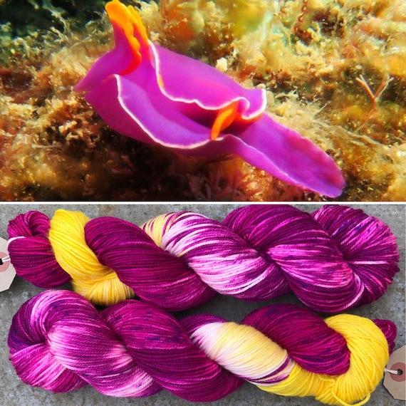 Ornate Batwing Sport, indie dyed merino nylon baby sock yarn