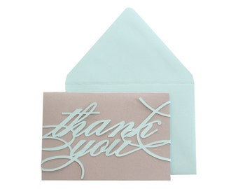 Monogram Thank You Notes - set of 25