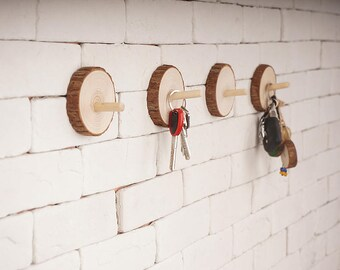 4 pieces Coat Hook - Simple, Minimal, Modern Natural trees coat hooks,Creative life Strong bearing decoration,towel hook,key hook,wall hooks