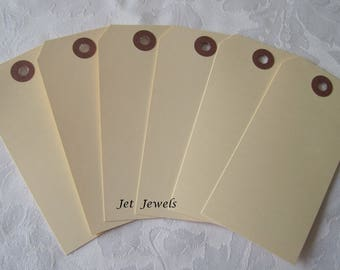 50 Gift Tags, Hanging Tags, Large Tags, Hang Tags, Price Tags, Manila Tags, Plain Tags, Stamping Supplies 4.75x2.25