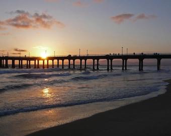 Manhattan Beach Pier at Sunset Photograph 8x12
