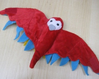 Macaw Parrot Bird Cup Holder Stuffed Animal- EXTRA STOCK