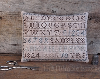 Abigail Pryor Marking Sampler...Primitive PDF Cross Stitch Pattern By The Humble Stitcher