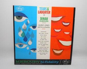 Dinah Washington, Tears And Laughter, Quincy Jones, Vintage Vinyl Album, Vinyl Record, Classical, Rhythm & Blues, Soul, LP, 33