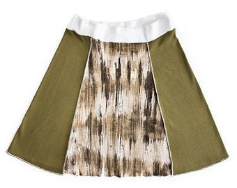 Women's Size Medium Upcycled Skirt in Earth Colors