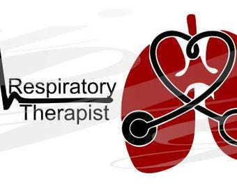 Respiratory Therapist with title  SVG EPS DXF Digital Cutting Design- Instant Download-  jpg pdf Vector File Graphic Design